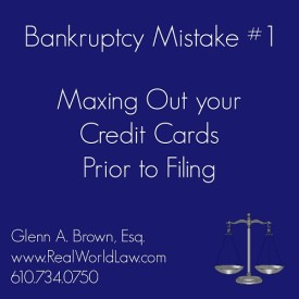 Bankruptcy Mistake #1: Maxing our Your Credit Cards